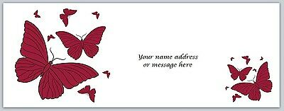 30 Personalized Return Address Labels Butterfly Buy 3 get 1 free (bo 713)