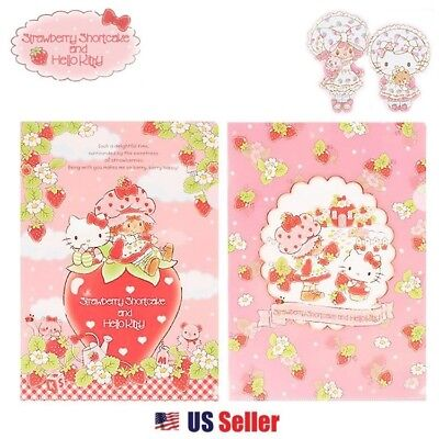 Sanrio Strawberry Shortcake x Hello Kitty A4 Portfolio Clear File Set (2pcs)