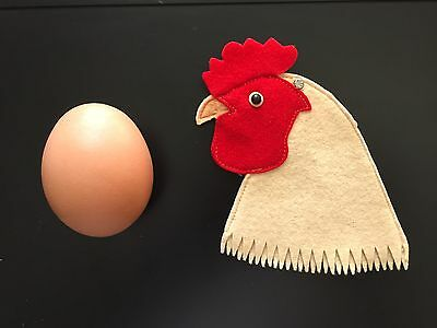 Antique Vintage STEIFF EGG COZY Chicken Early 1900s Wool Felt With Button