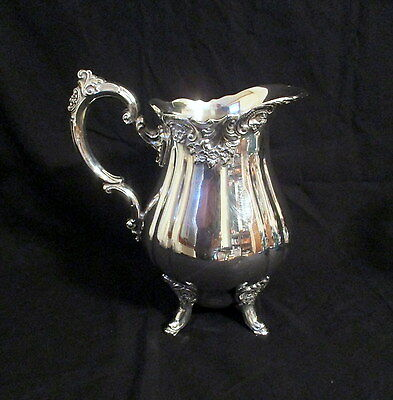 estate find Wallace Baroque silverplate silver plate pitcher hand polished