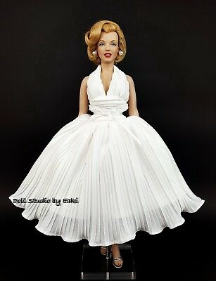 Dress Outfit Gown Fashion For Franklin Mint Marilyn Monroe SEVEN YEAR ITCH White