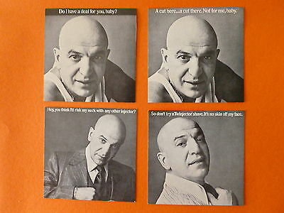 TELLY SAVALAS / GILLEETTE TWIN INJECTOR ADVERTISING to distributors (4) - RARE