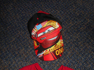 New Never Worn Child's Disney Cars Baseball Hat Cap W A Plastic Adjustable Strap