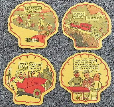 Vintage Shell Oil Company  Coasters Petroleum Advertising
