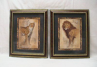 """Home Interior Homco""""Beautiful (A Set of Two) Feline Companions"""" Picture"""