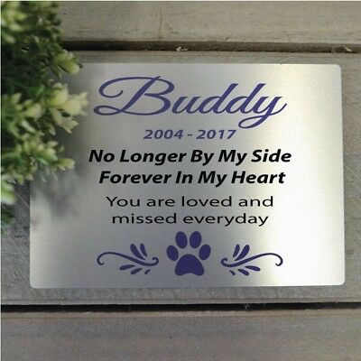 Personalised Dog Memorial Plaque  - Add a Name & Message