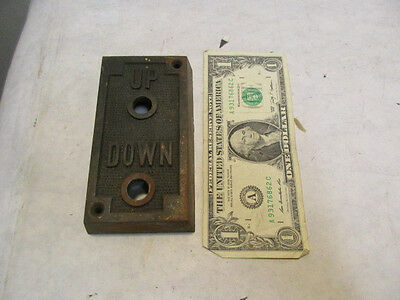 """vintage Elevator Up Down Copper Flash Call Plate 4.75"""" tall - Estate Listing NR"""