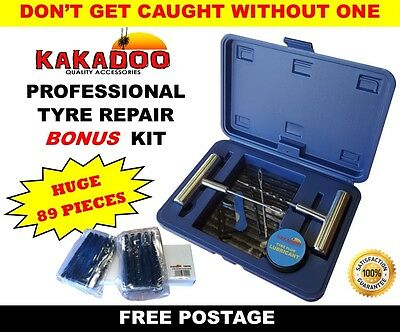 Huge 89Pc Professional Tyre Repair Kit In Case - Tyre Car 4Wd 4X4 Puncture Plug