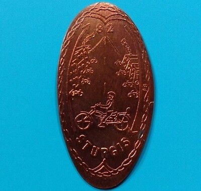 82 STURGIS South Dakota MOTORCYCLE Rally 1982 Elongated Pressed Copper Penny