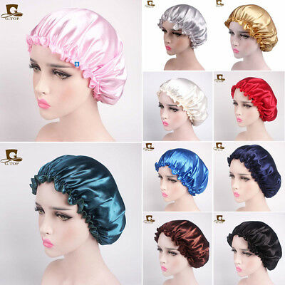 Women Salon Cap Head Cover Bonnet Lace Sleeve Cap Hooded Hat Solid Headdress