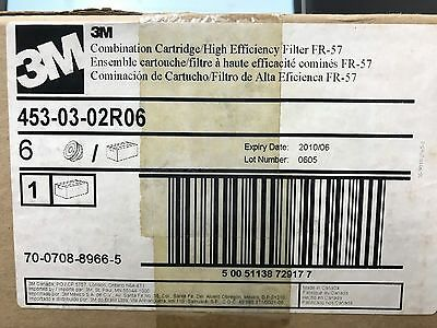 BOX OF 6 GENUINE 3M High Efficiency Cartridge FR-57 453-03-02R06 EXP DATE. 2010