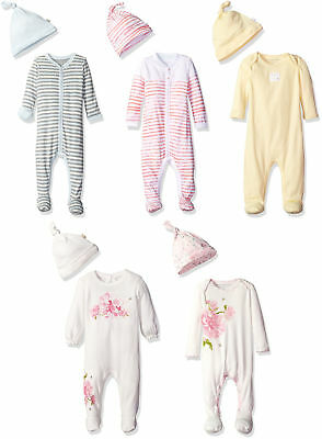 Burt's Bees Baby Footed Coverall and Hat Set, 14 Colors