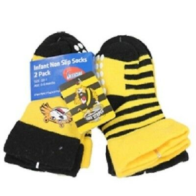 Richmond Tigers Official AFL Infant Non-Slip Socks - 2 pack