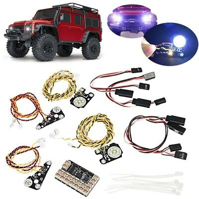 RC Crawler CAR part Linkage LED Lights with Lamp Cups Lampshade For TRAXXAS Trx4