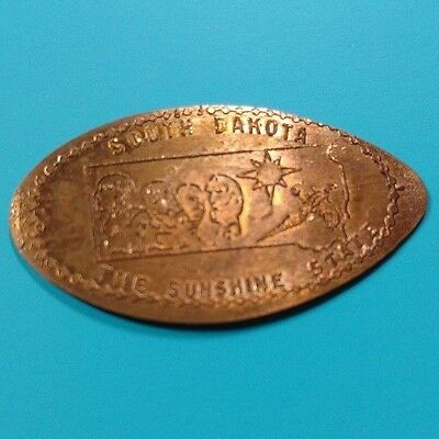 SOUTH DAKOTA THE SUNSHINE STATE Mount Rushmore Scupture Elongated Copper Penny