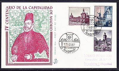 Spain 1961 Capital of Madrid First Day Cover Addressed