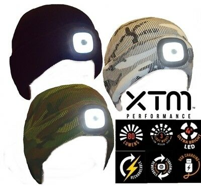 XTM The Blinder Beanie Headlight USB Rechargeable 80 Lumens 3 Light Modes