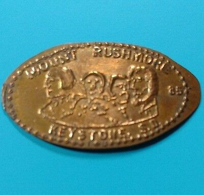 MOUNT RUSHMORE 85 Dated Keystone SD South Dakota Memorial Elongated Copper Penny