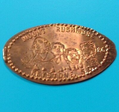 MOUNT RUSHMORE 86 Dated Keystone SD South Dakota Memorial Elongated Copper Penny