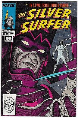 SILVER SURFER #1,2 (NM) Full Set! Stan Lee! Moebius! 1988 GALACTUS! LQQK!