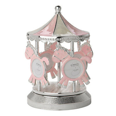 NEW Gibson Baby Merry-Go-Round Pink Musical Carousel