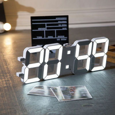 Digital LED Table Night Wall Clock Watch 24/12-Hour Display Alarm Modern Design