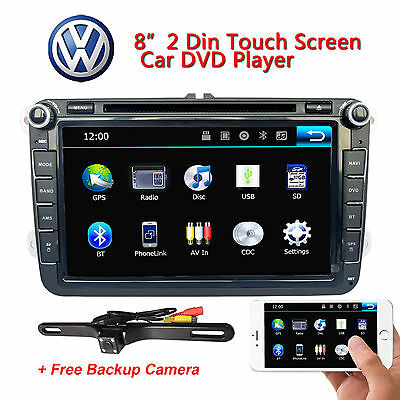 "For VW Volkswagen Jetta Passat 8"" Car GPS Stereo CD DVD Navigation 2DIN Radio"