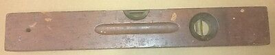 Vintage Small Spirit Level 406mm Brass and Timber Stanley No.104