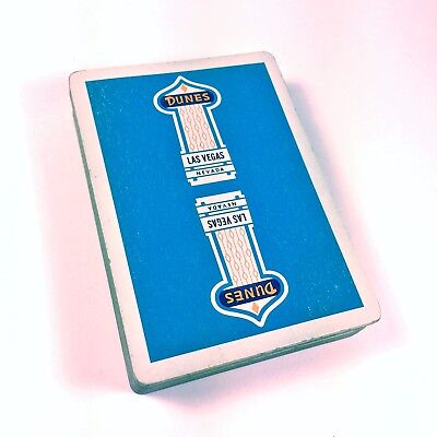 "Vintage DUNES Casino and Club House ""Pinochile"" Playing Card Deck (Blue)"