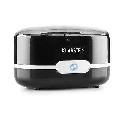 Klarstein Ultra Sonic Cleaning Tank Basket Coins Jewellry Heater Timer Black