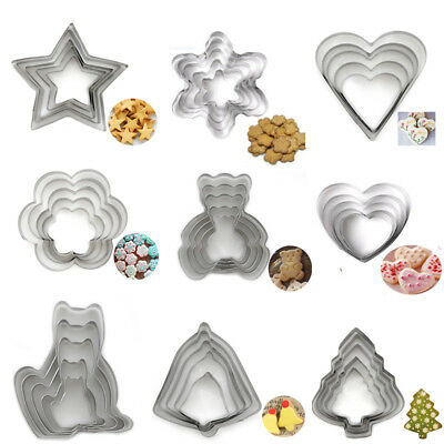 5Pcs/Set Stainless Steel Biscuit Pastry Cookie Cutter Cake Decorating Mold Tools