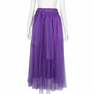 Fashion Womens Long Dress Princess Ballet Dance Tulle Summer Beach Maxi Dress