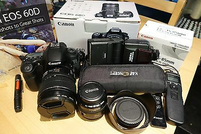 Canon 60D 18MP, 15-85mm f/3.5-5.6, 35mm f/2 & more