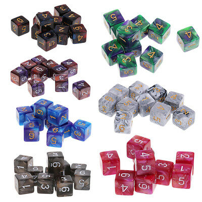 10PCS Set D6 Polyhedral Game Dice for Dungeons and Dragons Part DND MTG