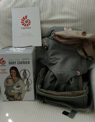 New with Box Grey Ergo 360 4 Position Baby Carrier