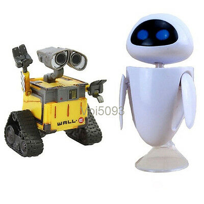 Diseny Pixar Wall-E and Eee-Vah EVE Set of 2pcs Mini Action Figure New in Box