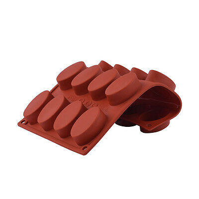 New DIY 16-Cavity Oval Shape Soap Silicone Chocolate Mould Tray Home Making Tool