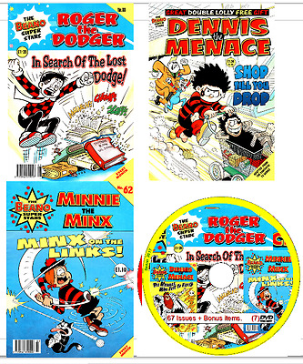 Beano SuperStars Comics 67 issues 1992-95 on DVD+ Bonus items                B7