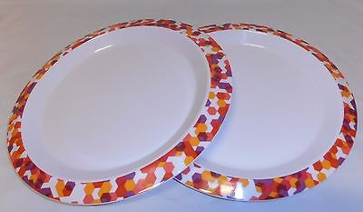 TUPPERWARE set of 2 Fiesta Dining  Plates reduced price!