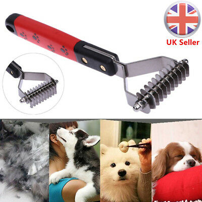 Pet Dog Cat Grooming Undercoat Hair Fur Rake Comb Dematting Trimmer Tool Brush
