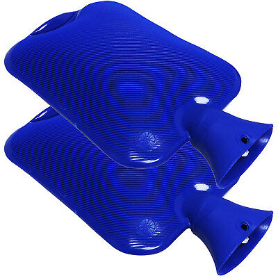 Sure Thermal Thermoplastic Winter Office Home Hot Water Bottles Blue Twin Pack