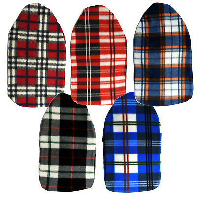 Sure Thermal Tartan Graphic Hot Water Bottle Savings Pack 5x Mixed Coloured HWBs