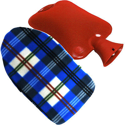 Sure Thermal Tartan Graphic Design Hot Water Bottle Cover + Bottle, 5 Colours