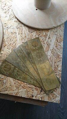 Brass clock face sheets 'Tempus Fugit'