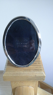 Vintage Sterling Silver Oval Framed Photo Frame Dutch Hallmark 925 Zilver