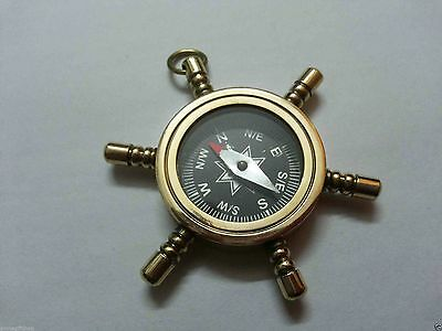 Nautical Beautiful Collectable Brass Wheel Compass Key Ring For Christmas Gift