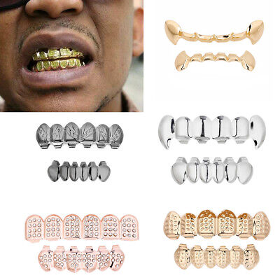 Hip Hop Teeth Grillz Top Top Bottom  Iced Out Grill Tooth Cap Mold vampire Kit