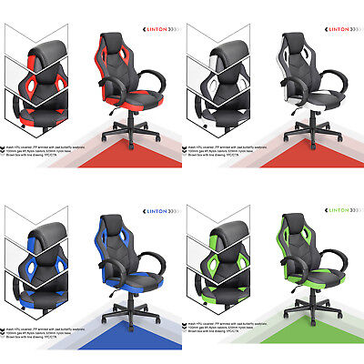 Big Sale! Swivel Pu Leather High Back Reclining Office / Desk Chair Race Gaming