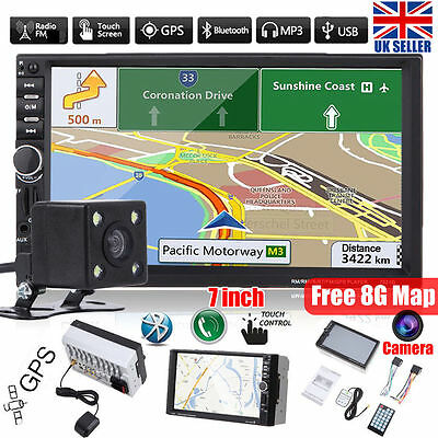 "7"" Double 2Din Car MP3 MP5 Player GPS Navi Radio Touch Bluetooth Rearview Camera"