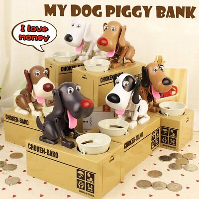 Cool Cute Dog Model Piggy Bank Money Save Pot Coin Box Creative Gift MA